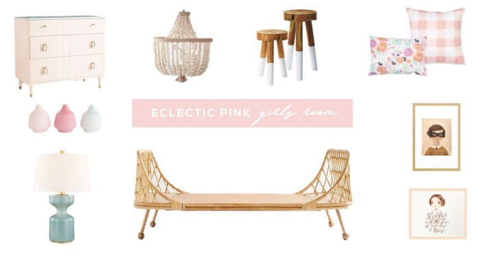 eclectic pink girls room