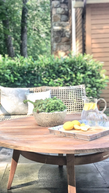 Styling Gypsy | The Beauty of Teak - 3 Stylish Ways to Use Teak in Your Outdoor Space | Teak patio table & outdoor furniture with succulent planter and outdoor entertaining decor